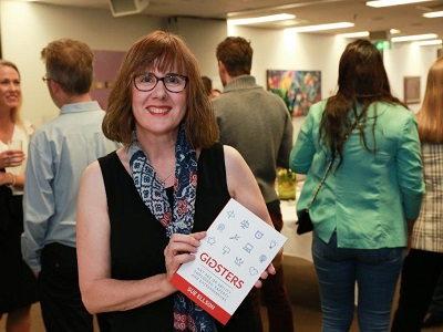 Sue Ellson with Gigsters Book